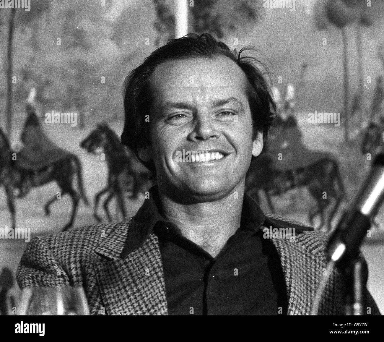 Jack Nicholson at press conference - Stock Image