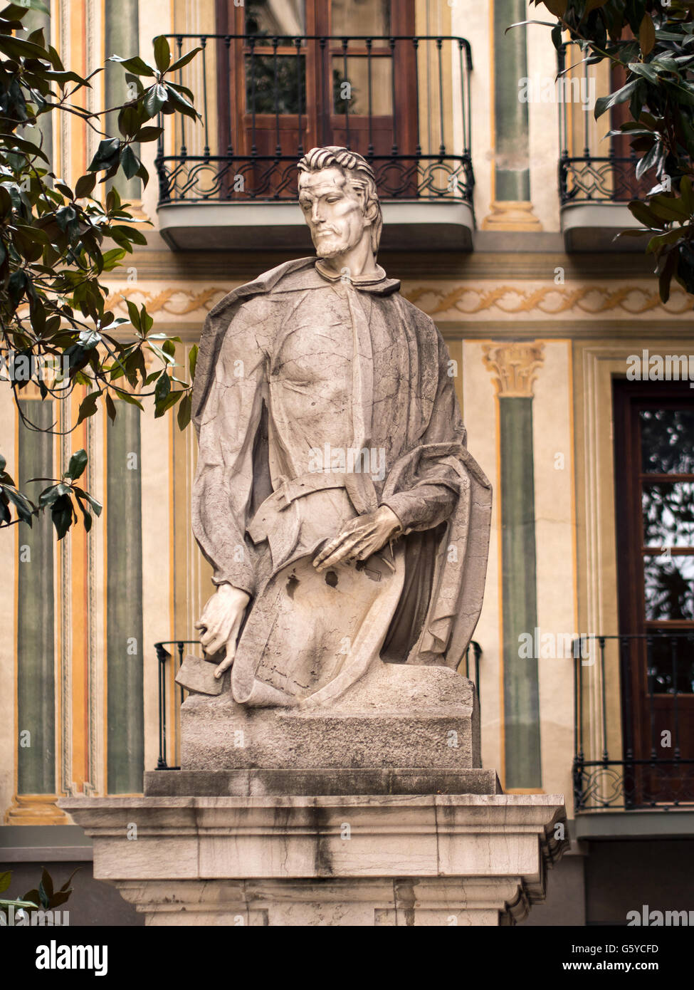 SEVILLE, SPAIN:  Statue of  Spanish painter, architect and sculptor Alonso Cano - Stock Image