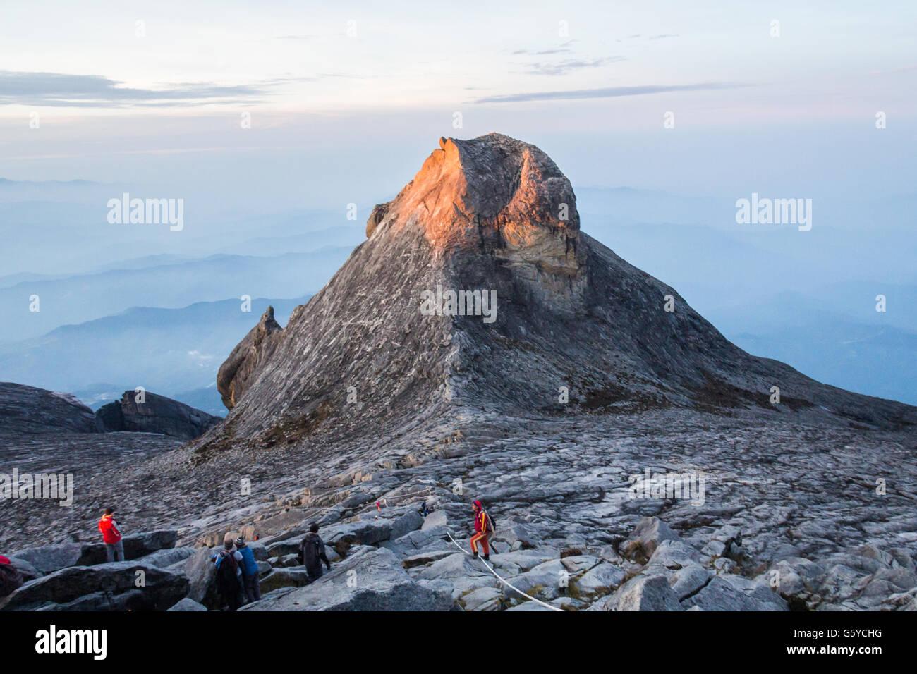 The summit of Mount Kinabalu in Sabah Malaysia - Stock Image