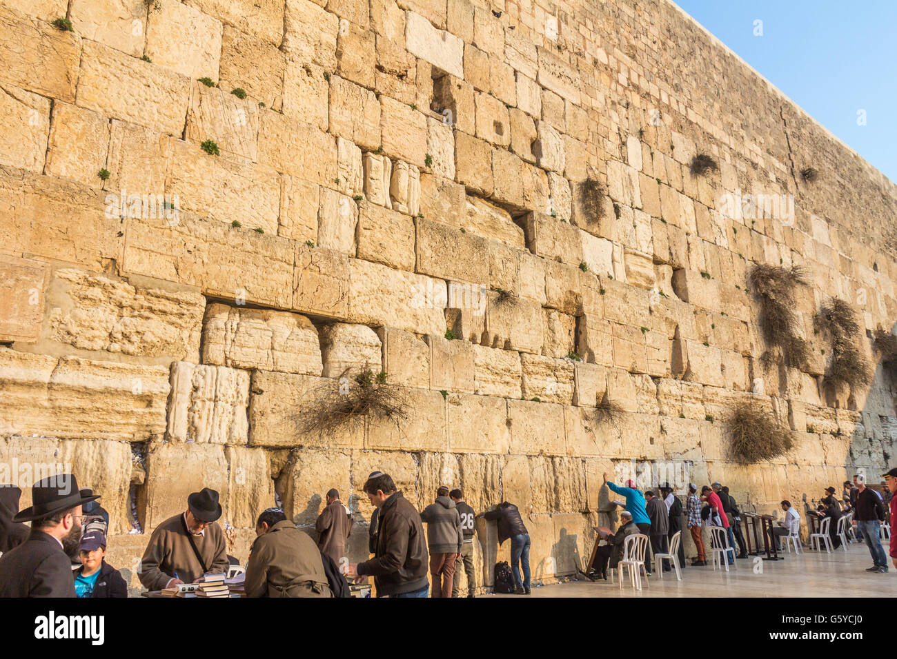 The wailing wall in Jerusalem - Stock Image