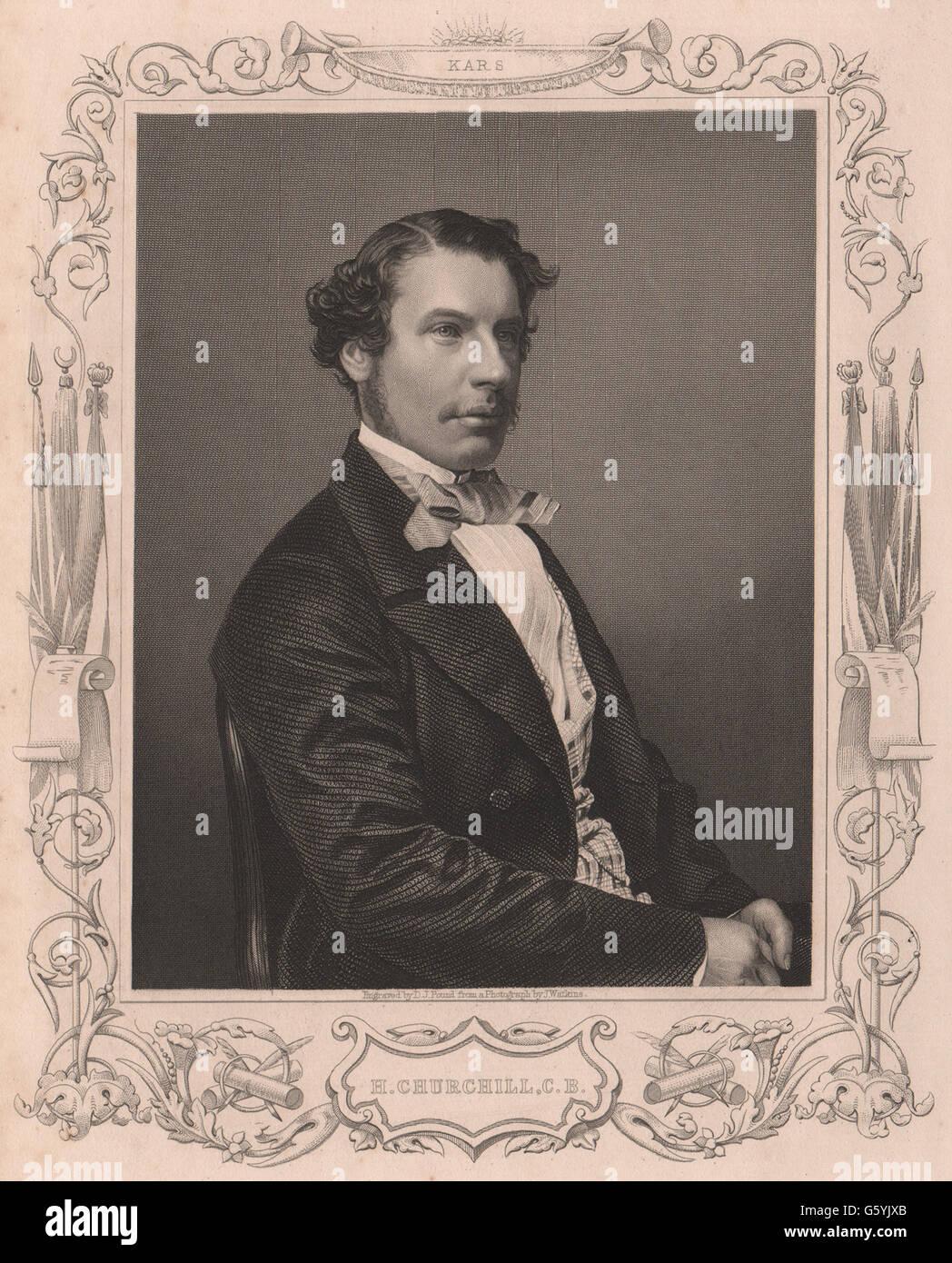 CRIMEAN WAR: Henry Adrian Churchill. C. B. Kars, antique print 1860Stock Photo