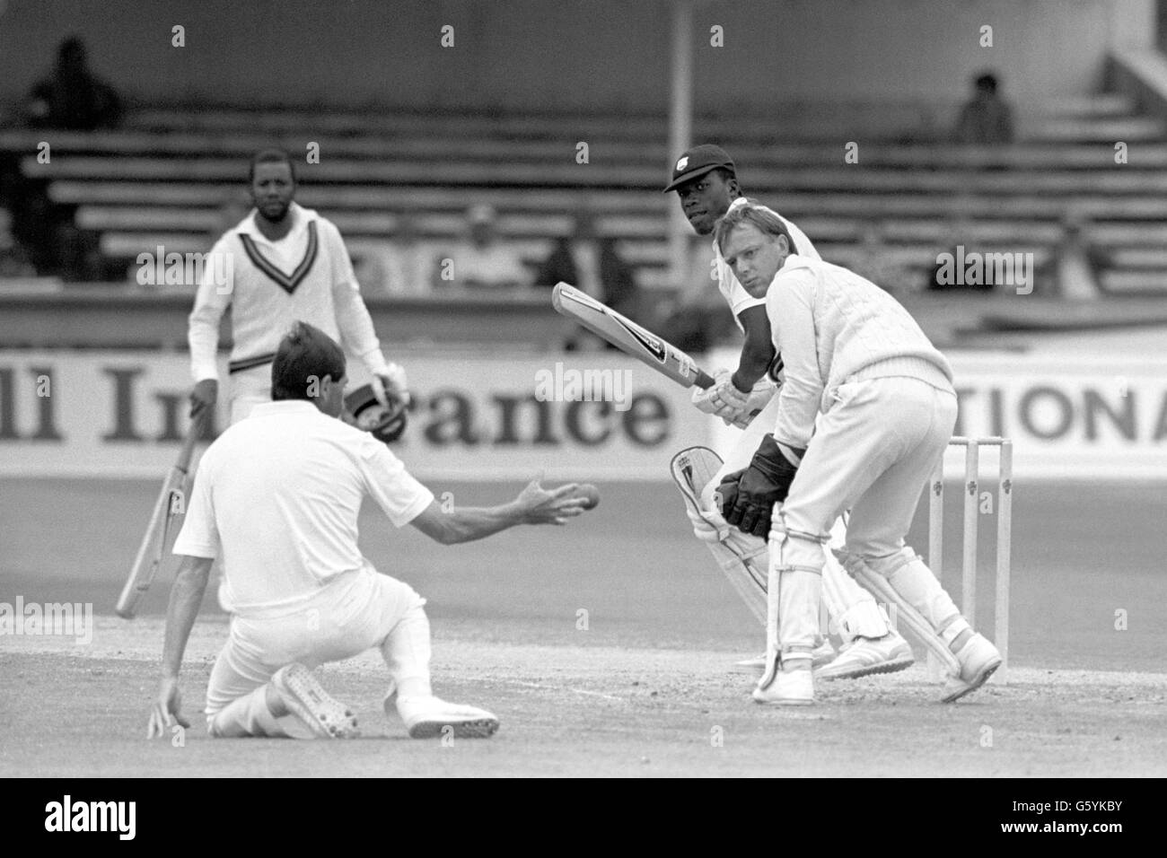 Cricket - West Indies in British Isles 1988 - England v West Indies - 1st Test - Day Four - Trent Bridge, Nottingham - Stock Image
