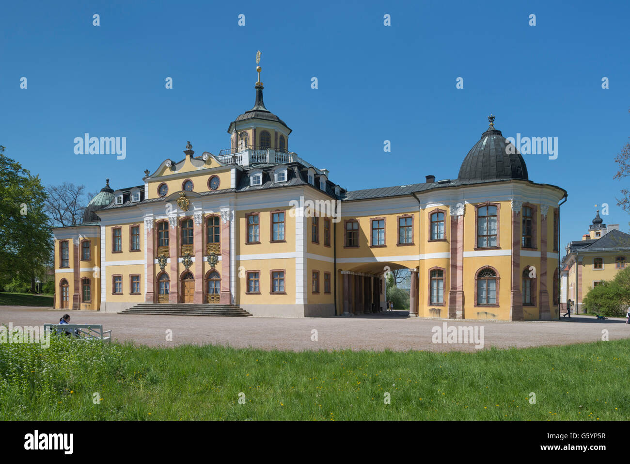 Belvedere, nowadays the Museum of Arts and Crafts, UNESCO World Heritage Site, Weimar, Thuringia, Germany - Stock Image