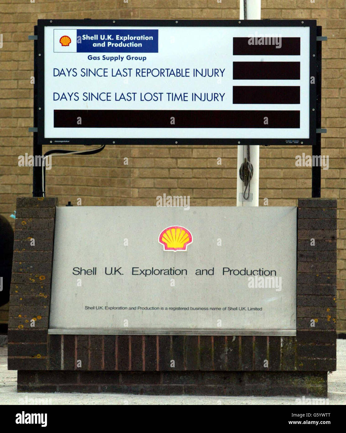 Shell's Headquarters  -  Helicopter Crash Stock Photo