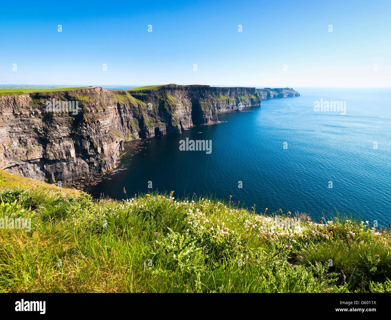 Cliffs of Moher Clare Ireland Wild Atlantic Way - Stock Image