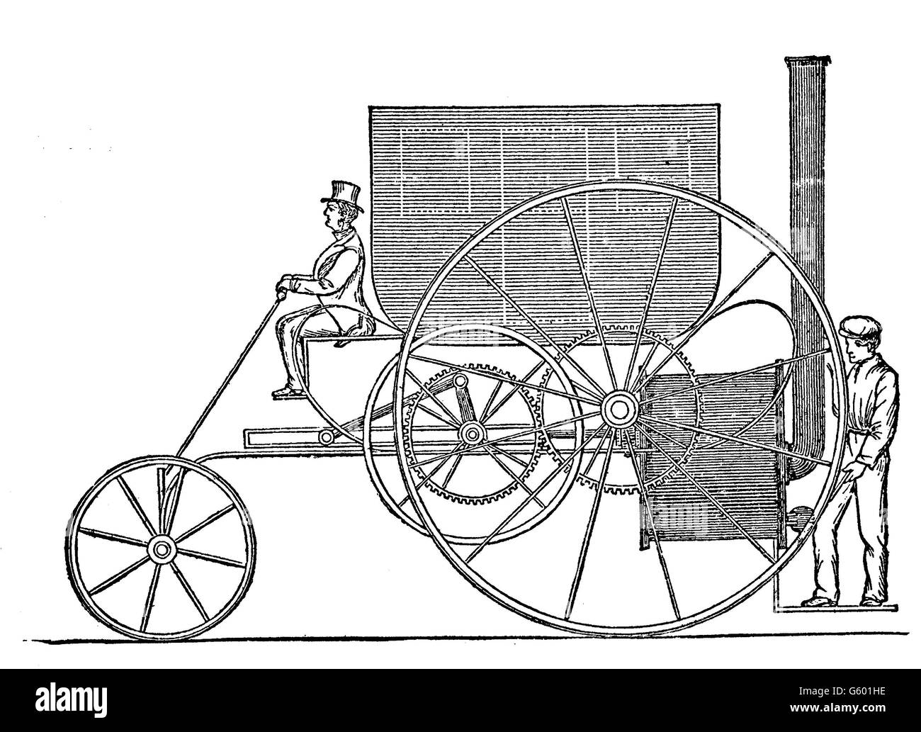 Trevithick locomotive1803. Richard Trevithick ( 1771 –1833) was a British inventor and mining engineer from Cornwall - Stock Image