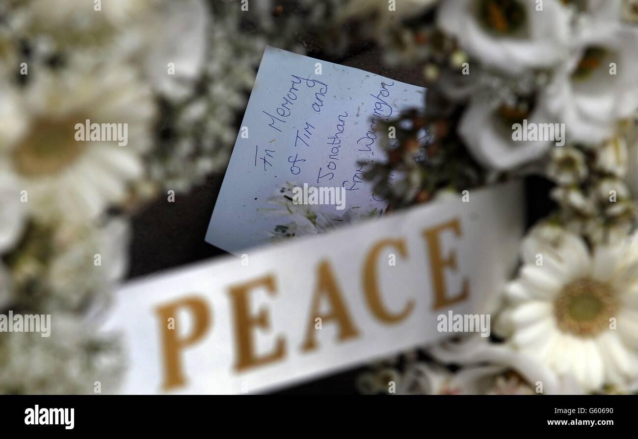 Warrington bombing remembered - Stock Image