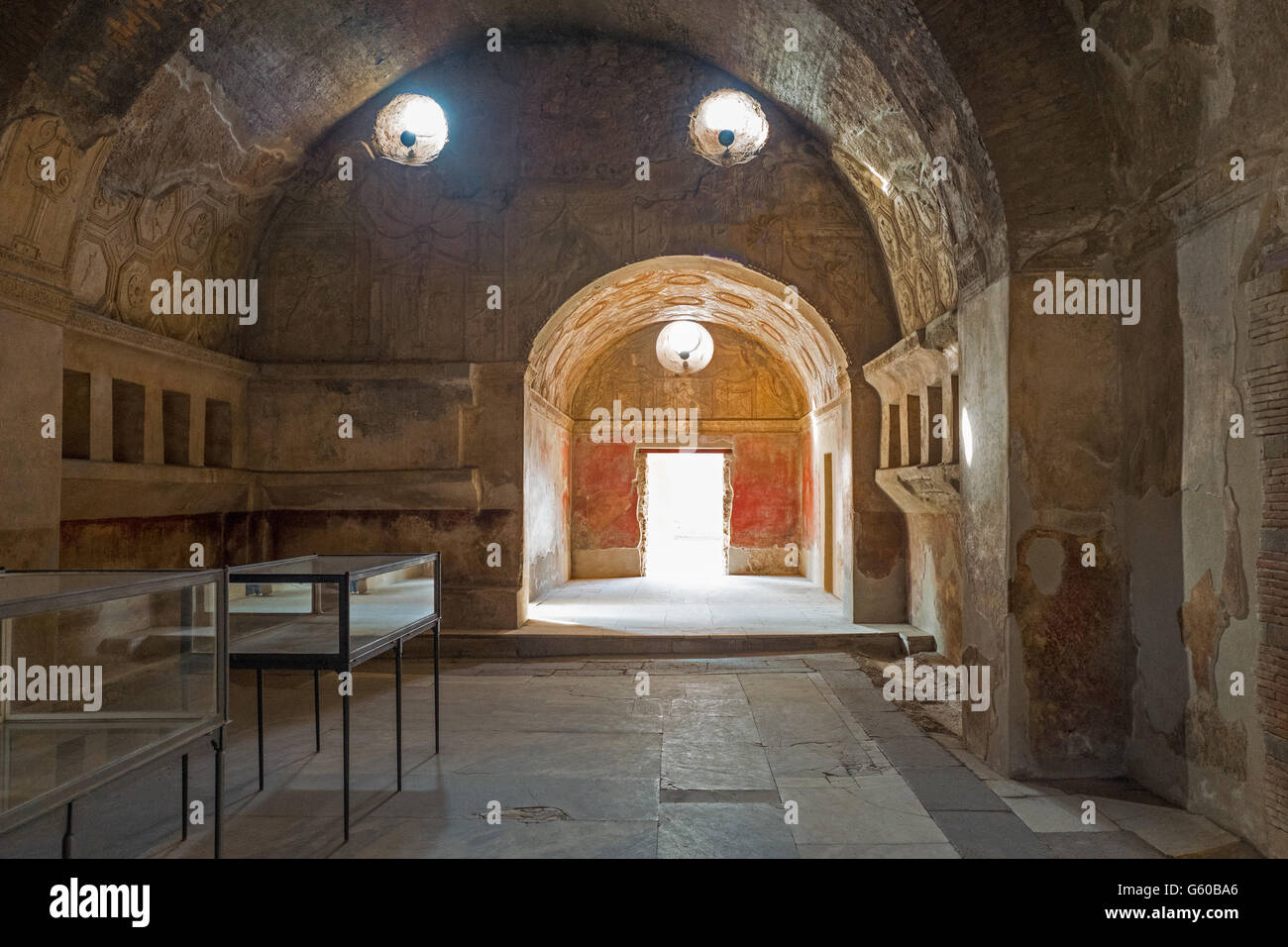 Italy, Pompei, the Stabiane Spas of the archaeological site - Stock Image