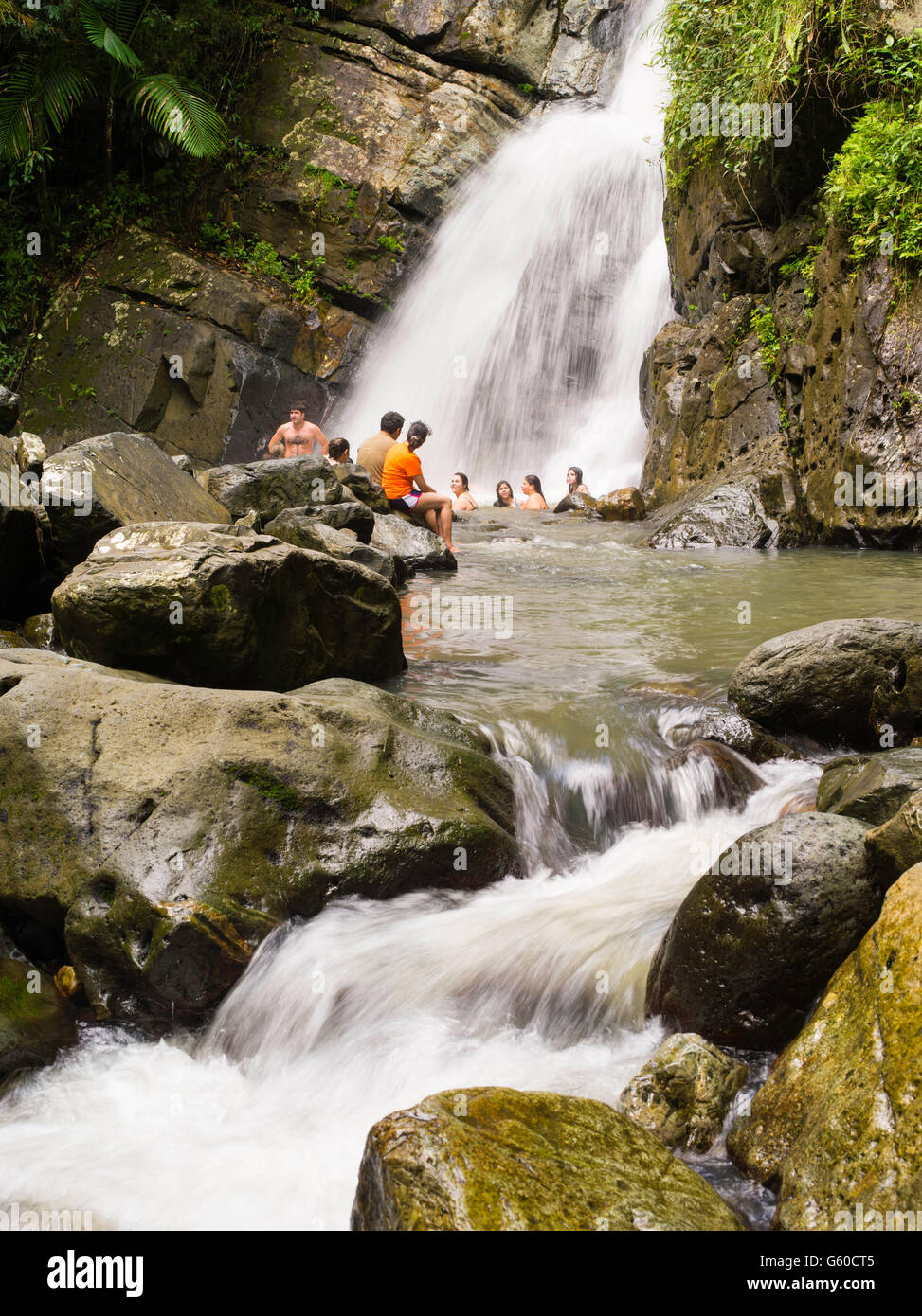 Women Bathing In Waterfalls