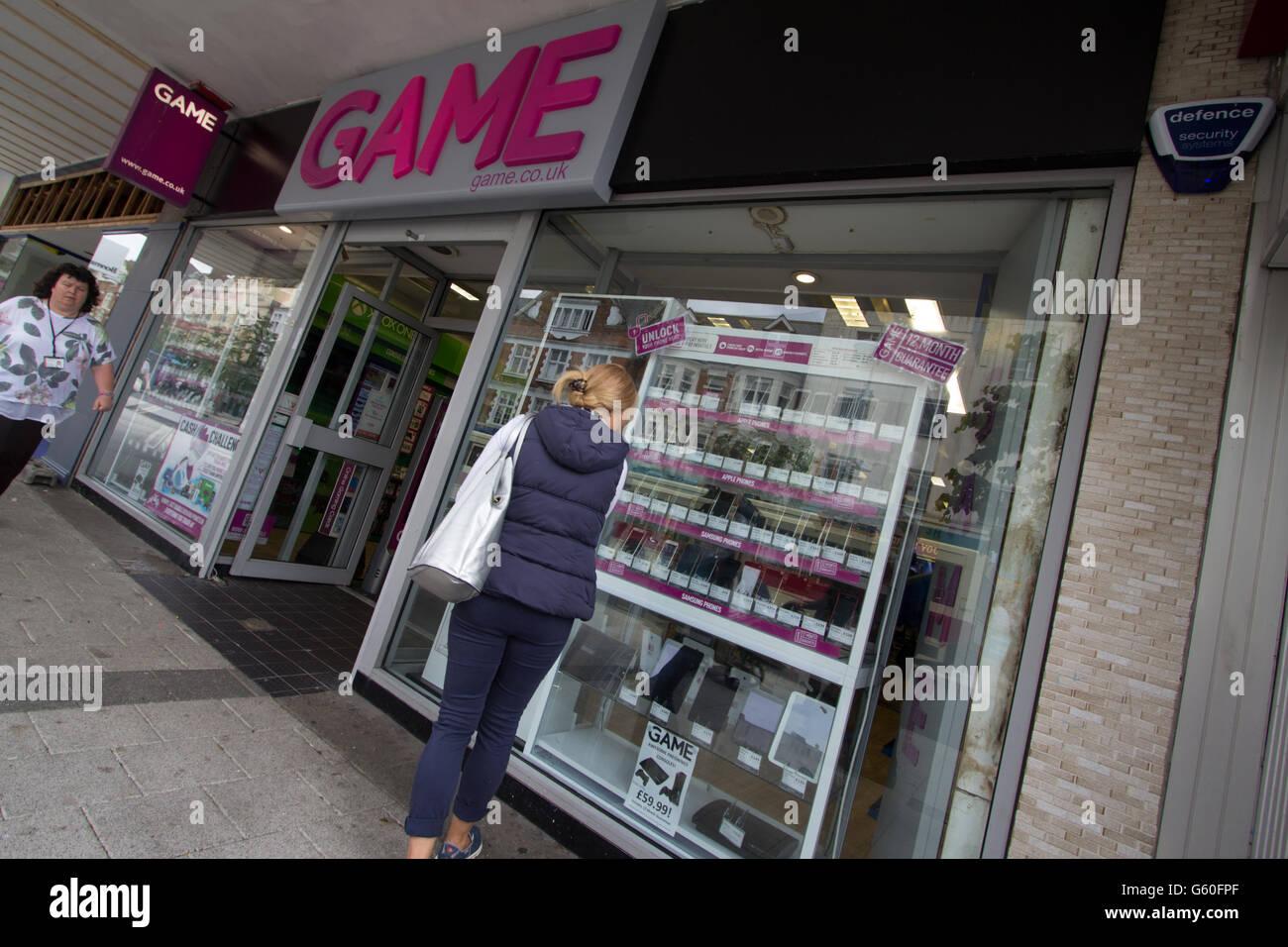 Clacton Essex Clacton Essex Game  shop store, Game Retail Limited - Stock Image