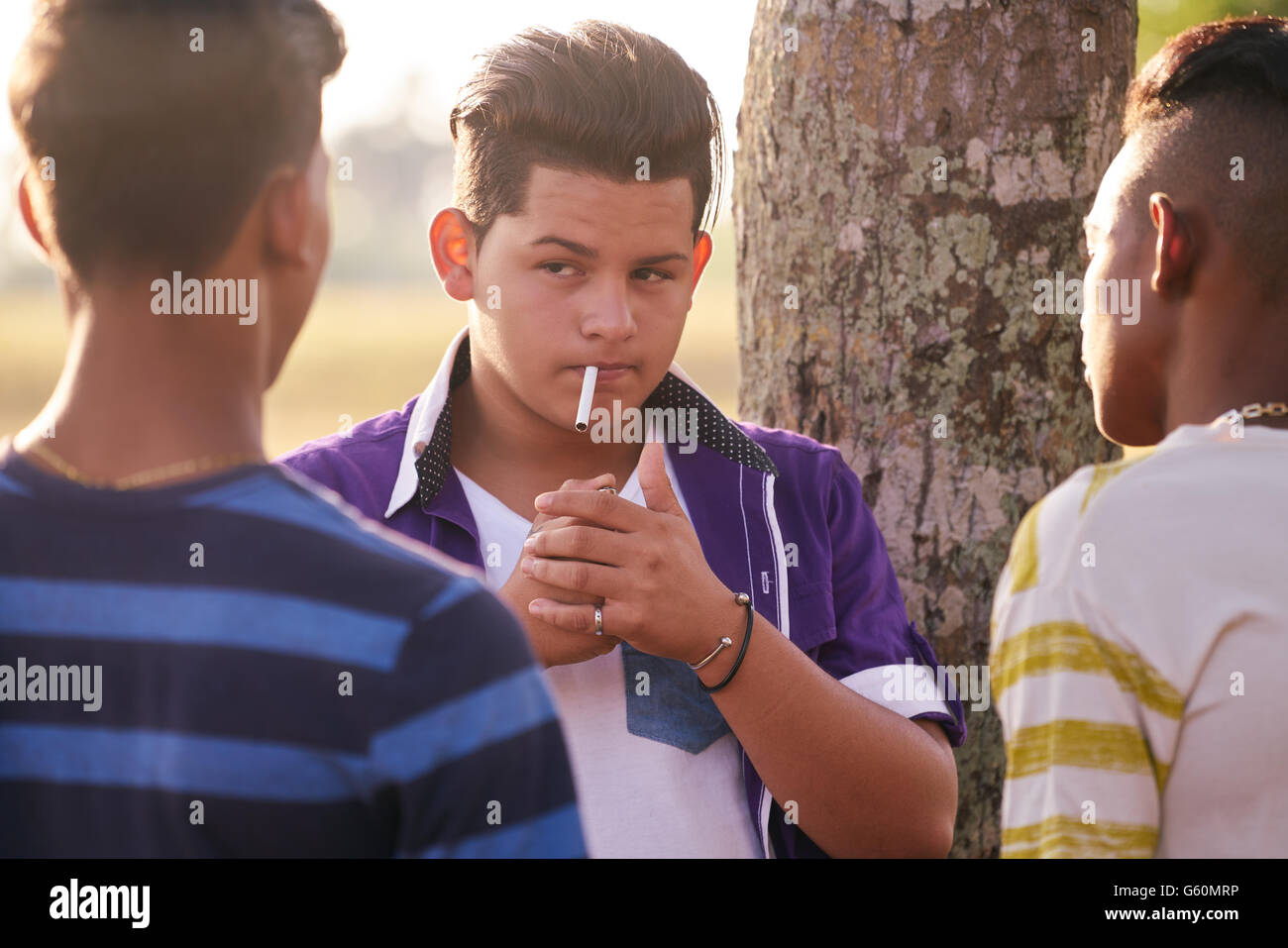 Kids smoking cigarettes