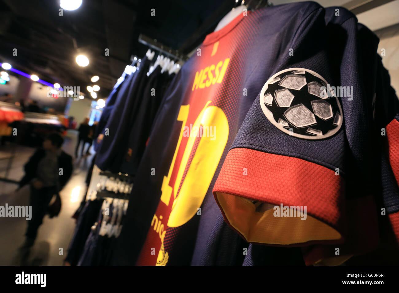 Soccer - UEFA Champions League - Round of 16 - Second Leg - Barcelona v AC Milan - Nou Camp - Stock Image