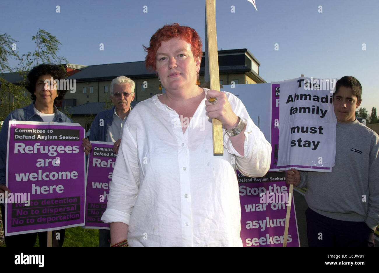 Asylum Seekers Committee protest - Stock Image
