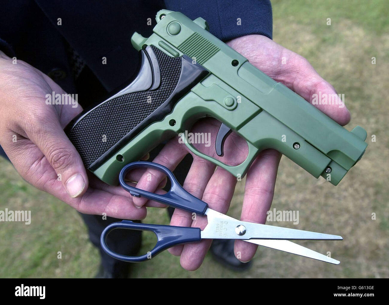 Smuggled weapons - Stock Image