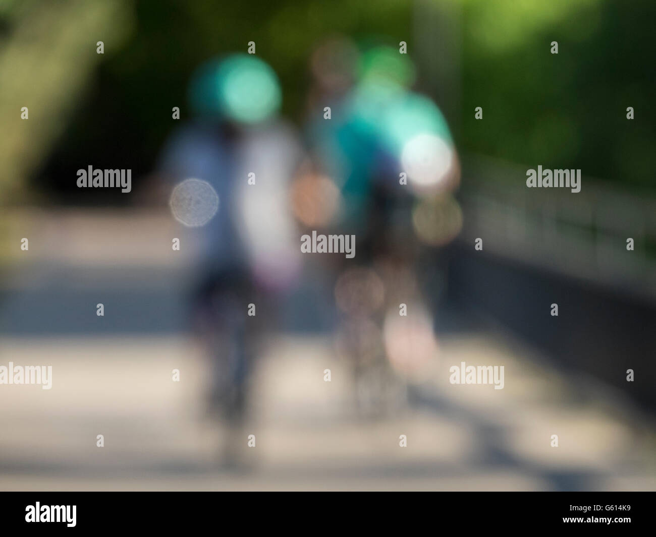 abstract bicyclist - Stock Image