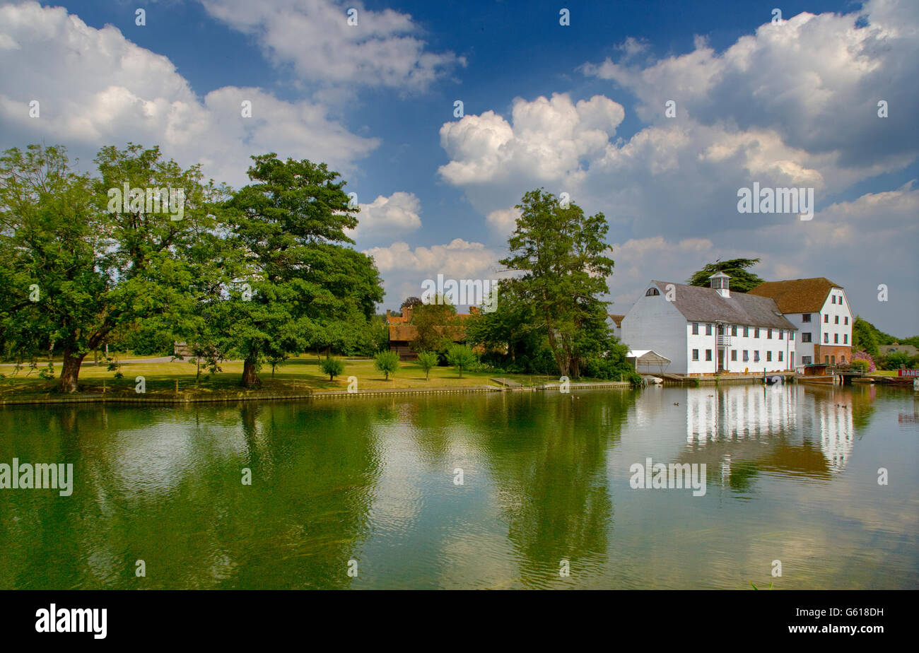 Hambleden Mill on the River Thames Near Henley Oxfordshire - Stock Image