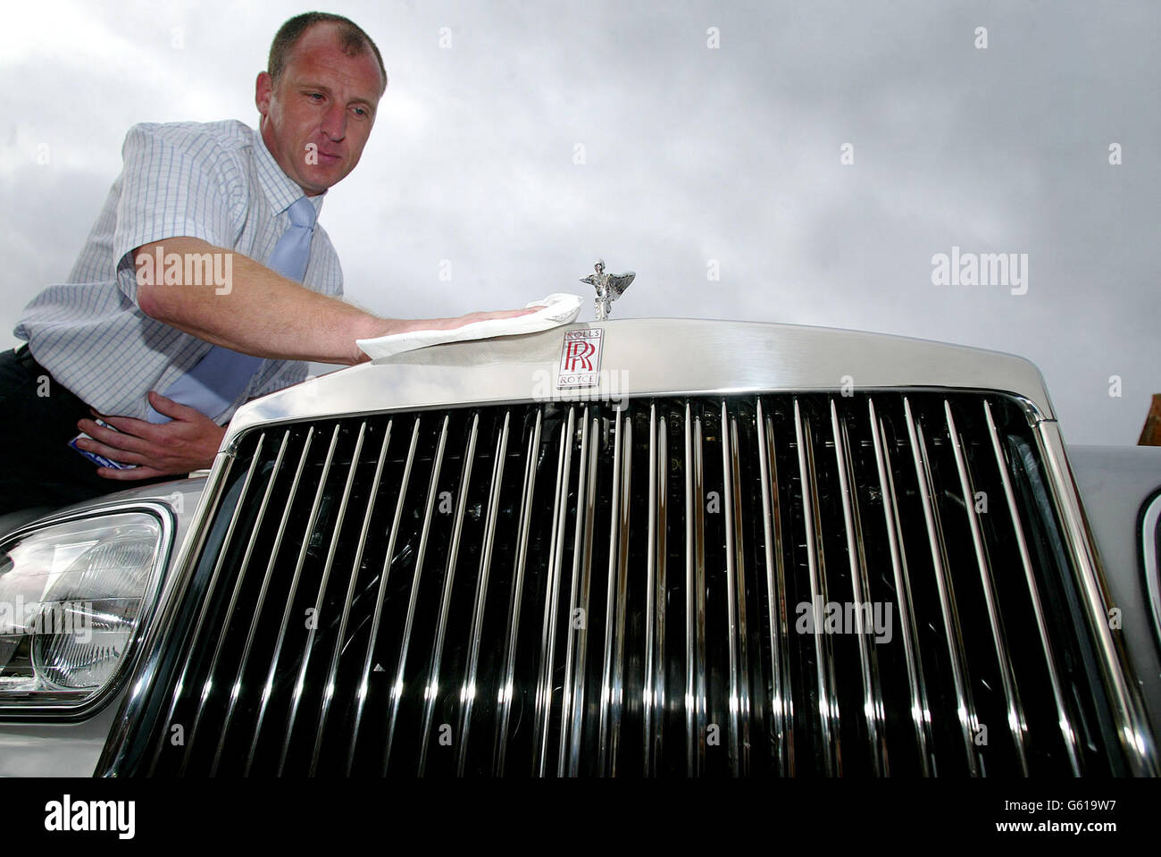 Rolls Royce factory closes - Stock Image