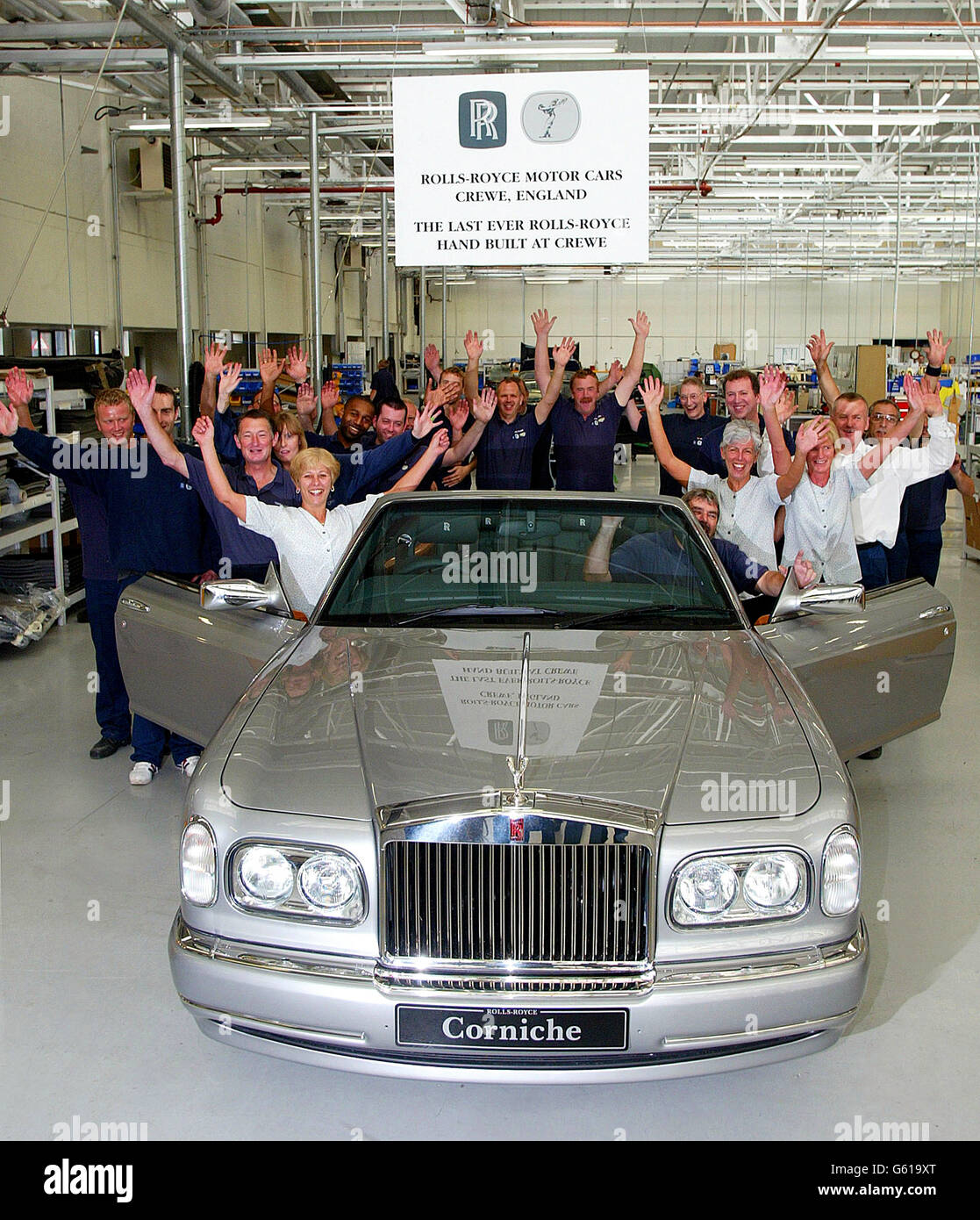 Transport - Crewe Rolls Royce plant closes - Stock Image