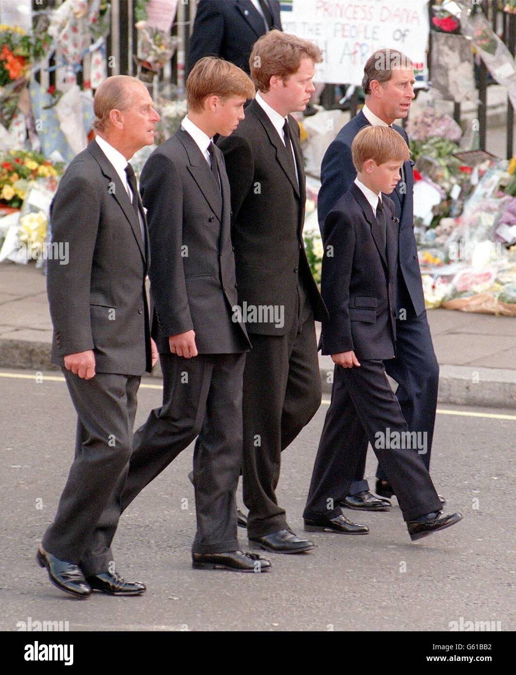 Royalty Funeral Of Diana Princess Of Wales London Stock Photo Alamy
