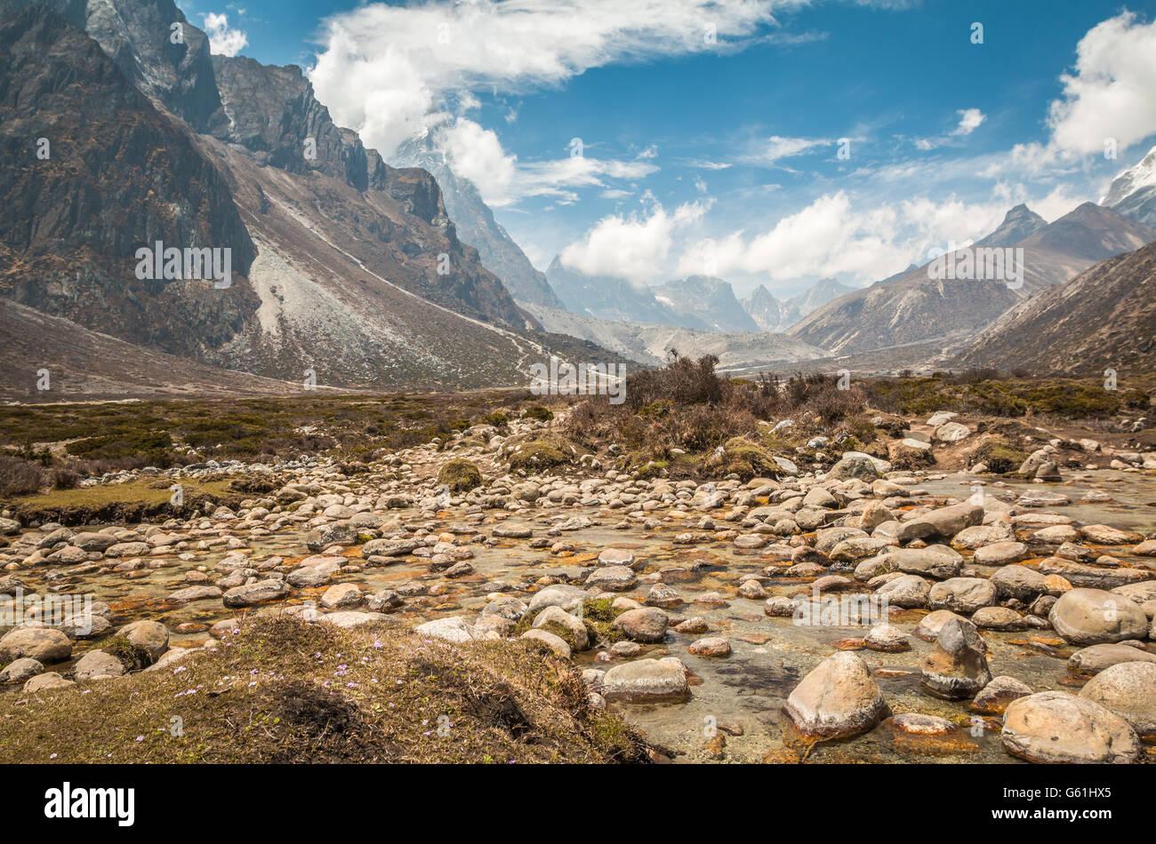Mount everest base camp trek - Stock Image