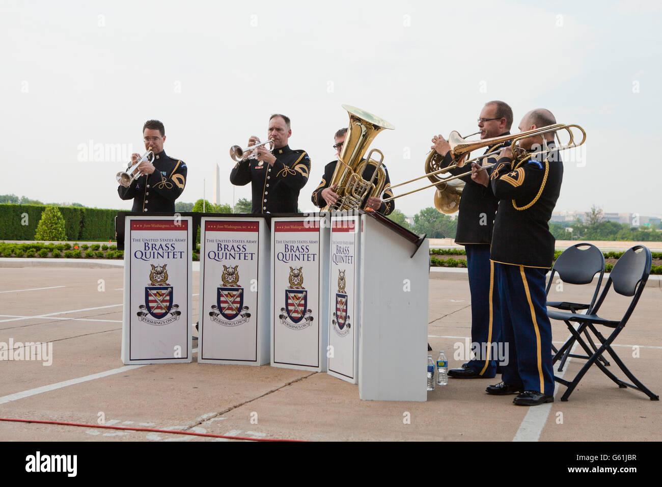 The United States Army Brass Quintet  - Washington, DC USA - Stock Image