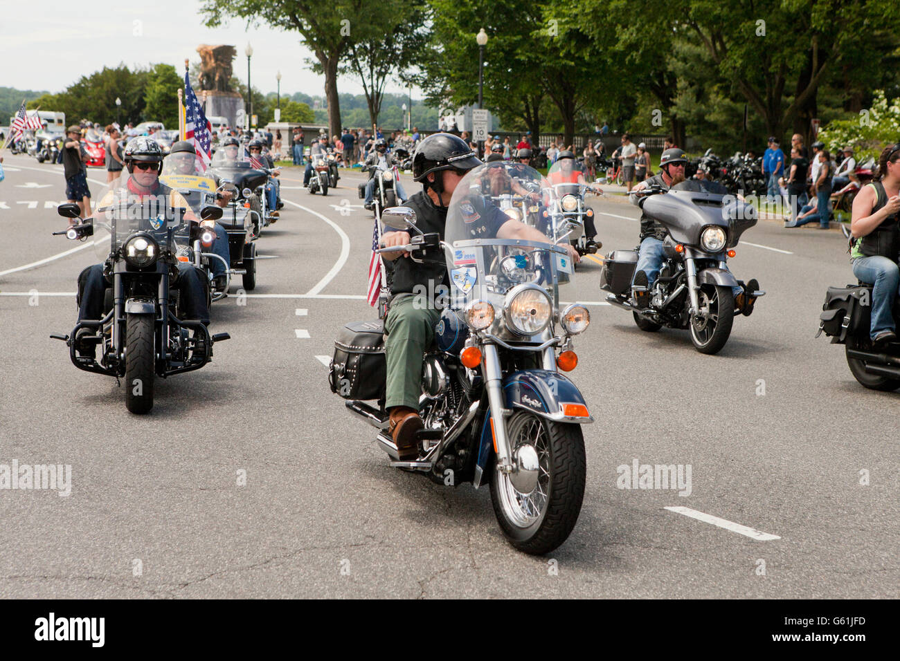 Participants of Rolling Thunder, Memorial Day weekend 2016 - Washington, DC USA - Stock Image