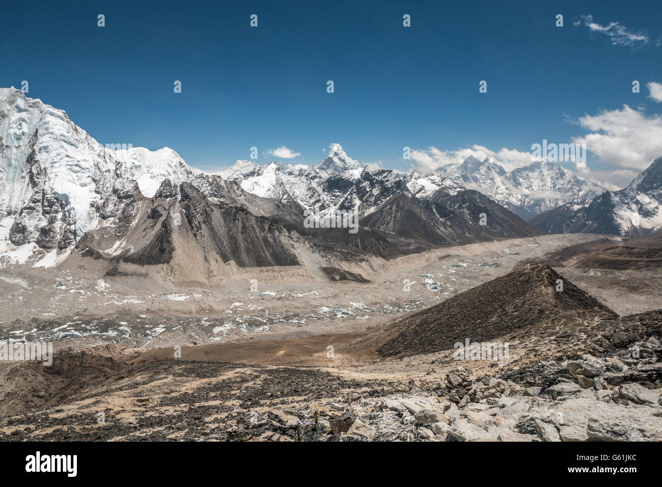 Khumbu valley in Mount Everest base camp - Stock Image