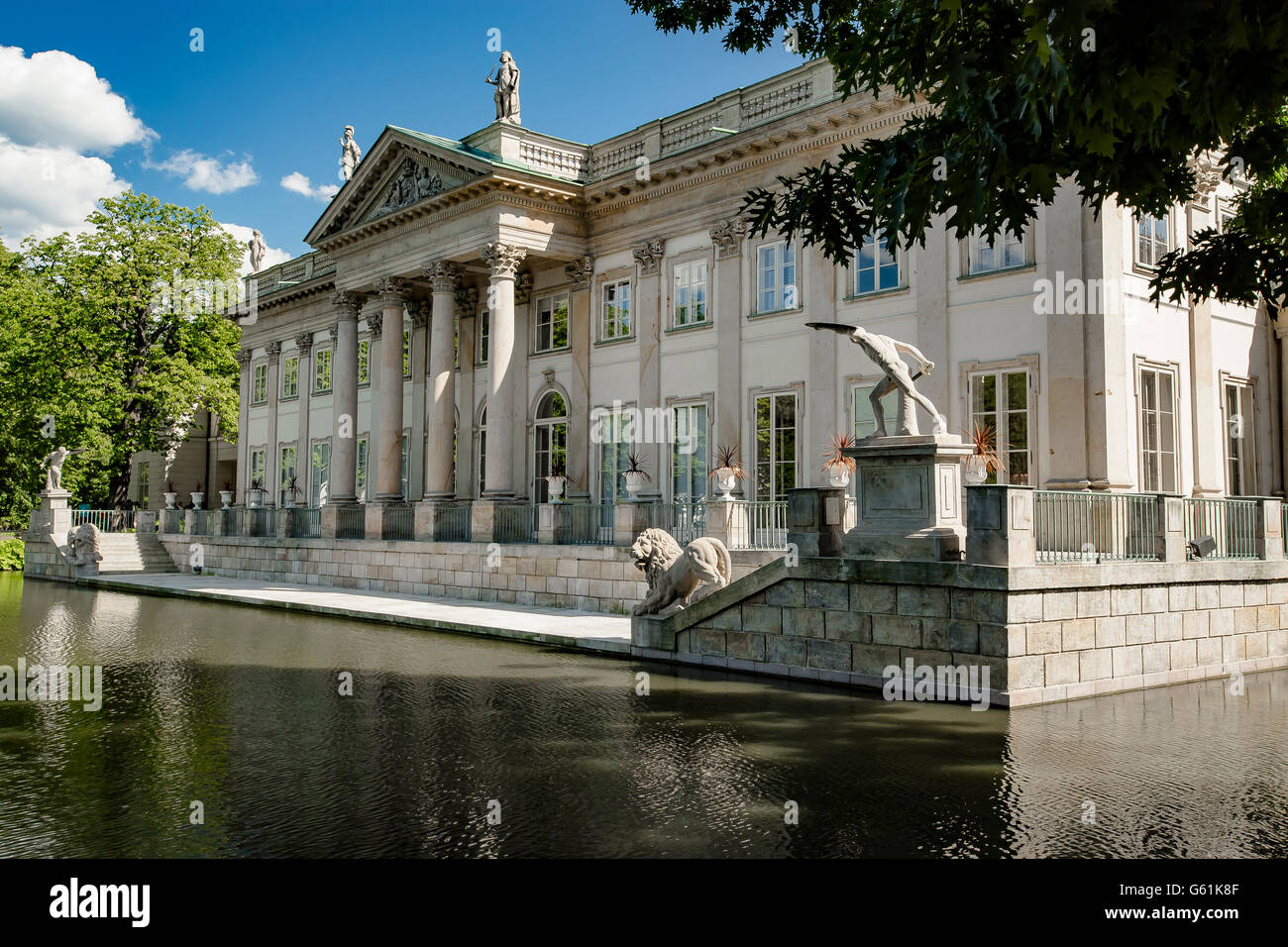 Lazienki Royal Park Palace On The Water Warsaw Poland