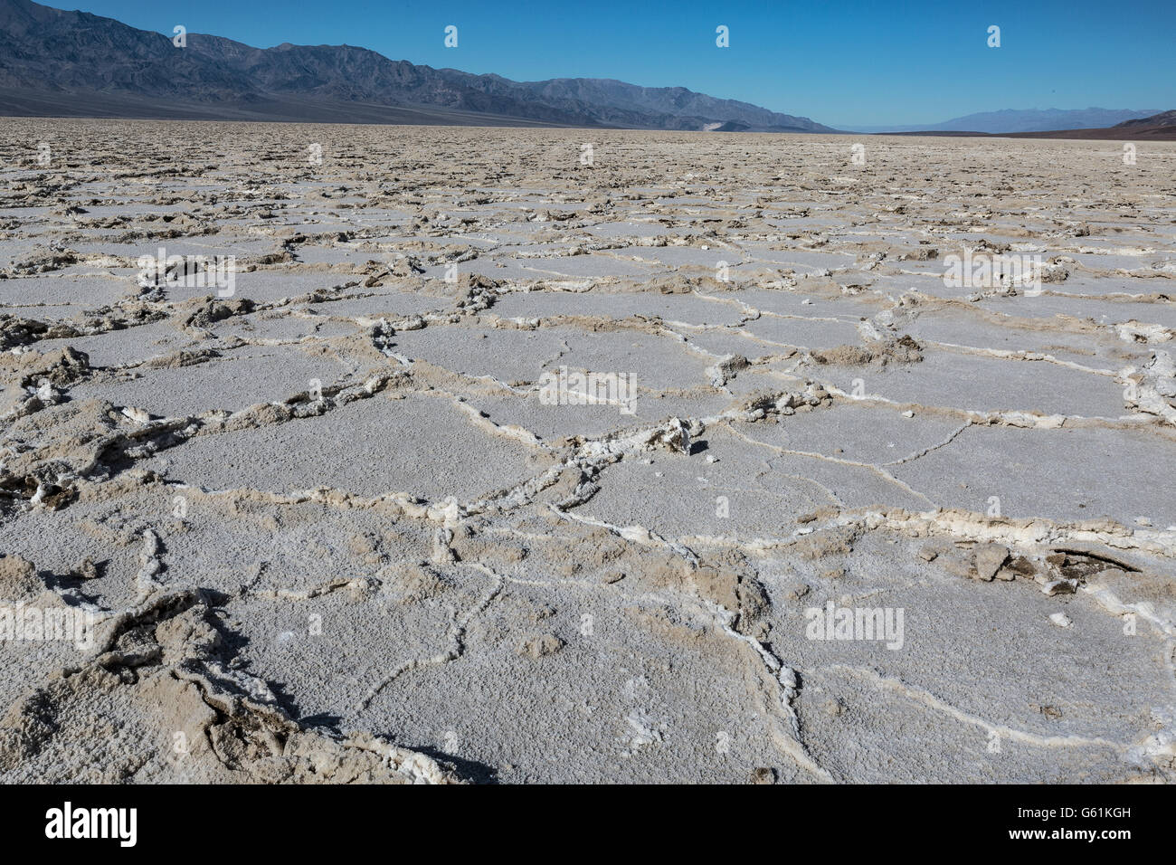 Death Valley, California,  Badwater - Stock Image
