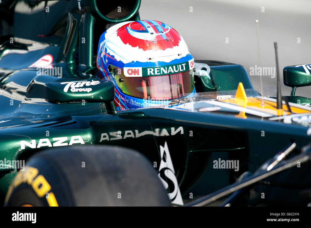 Vitaly Petrov, RUS, Caterham F1 Team-Renault CT-01, during the Formula 1 testing sessions, 21.-24.2.2012, at the - Stock Image