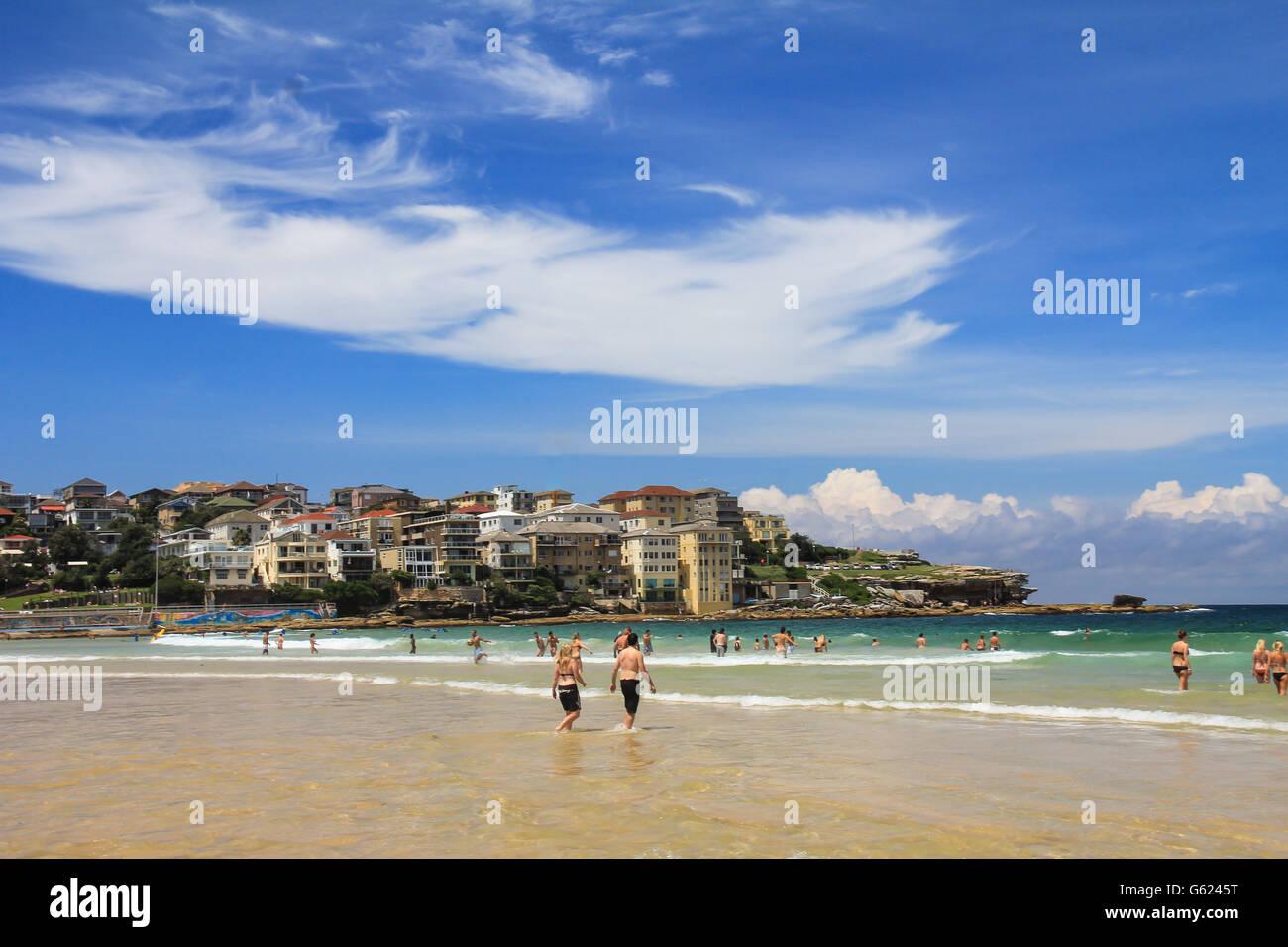 Nice view of Bondi Beach in Sydney australia Stock Photo