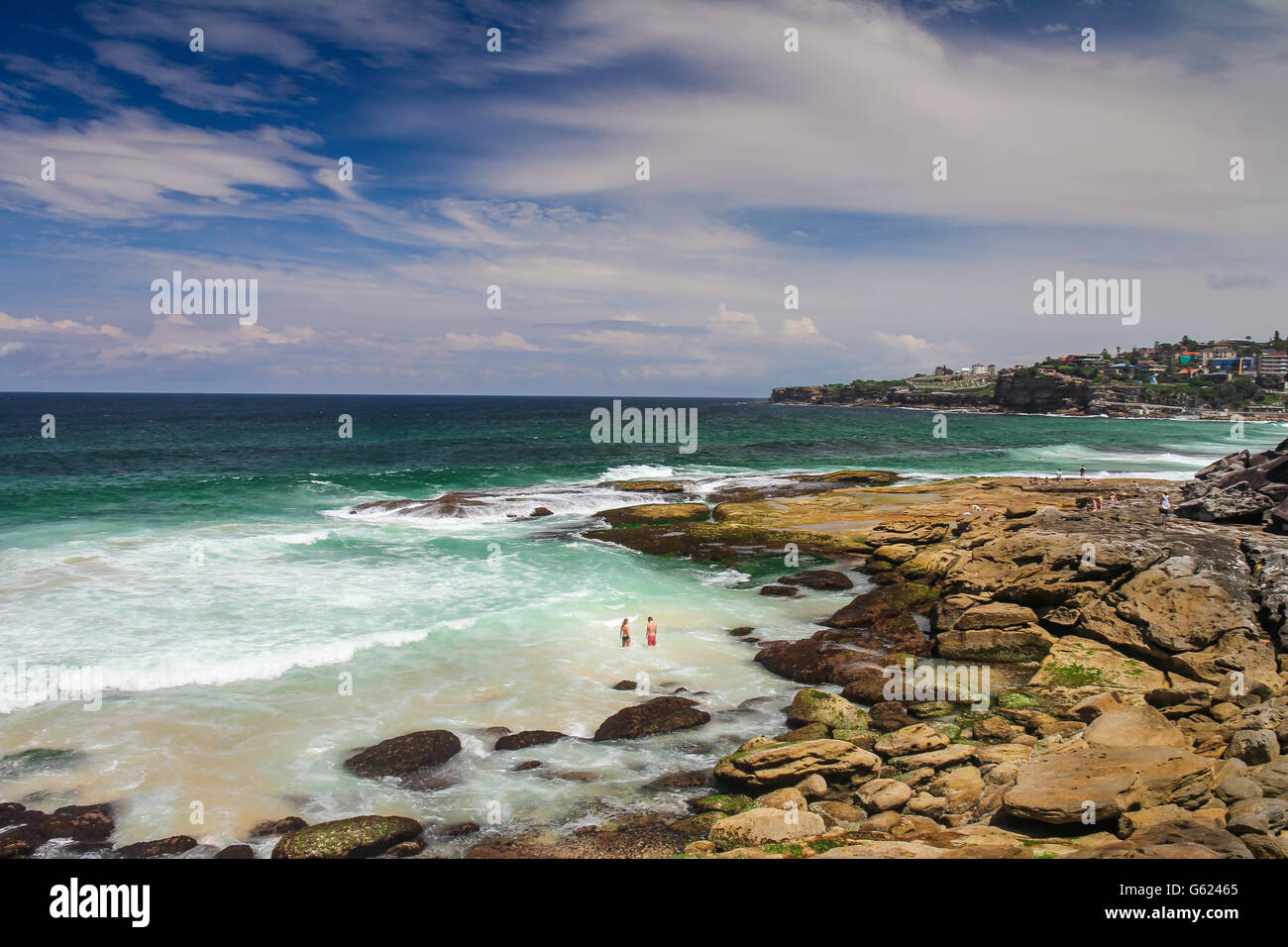Bronte Beach in Sydney Australia - Stock Image