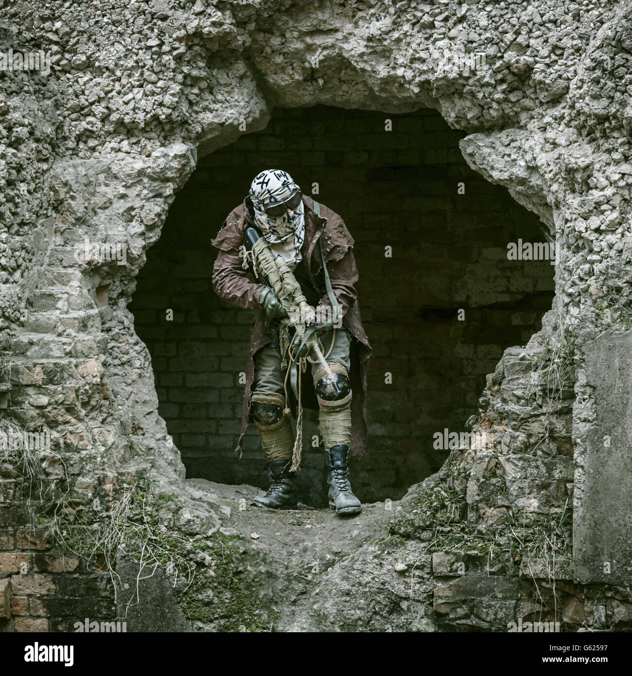 Nuclear post-apocalypse survivor - Stock Image