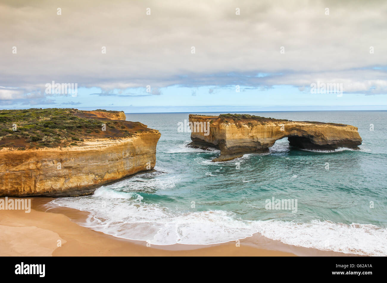Twelve apostle beach Australi Stock Photo