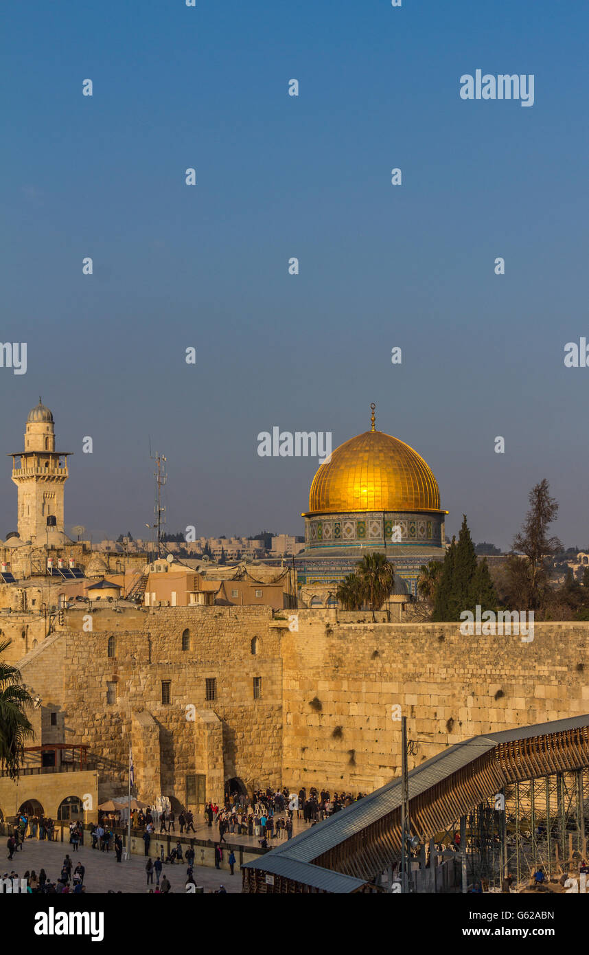 The Dome of rock in Jerusalem - Stock Image