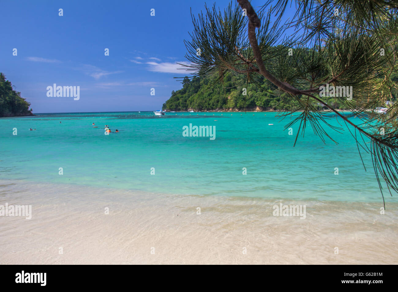 Sapi Island beach  in kota kinabalu malaysia - Stock Image