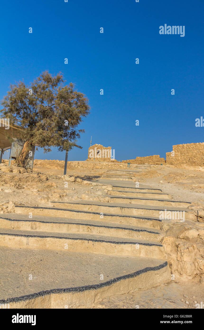 Massada ruins in Israel - Stock Image