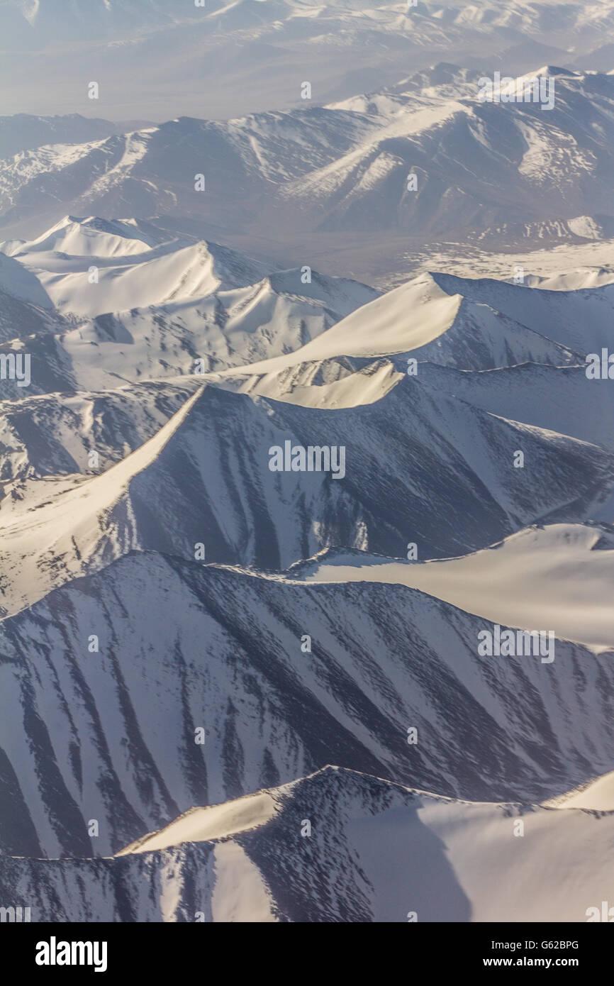 Panoramic view of Himalayan mountains - Stock Image