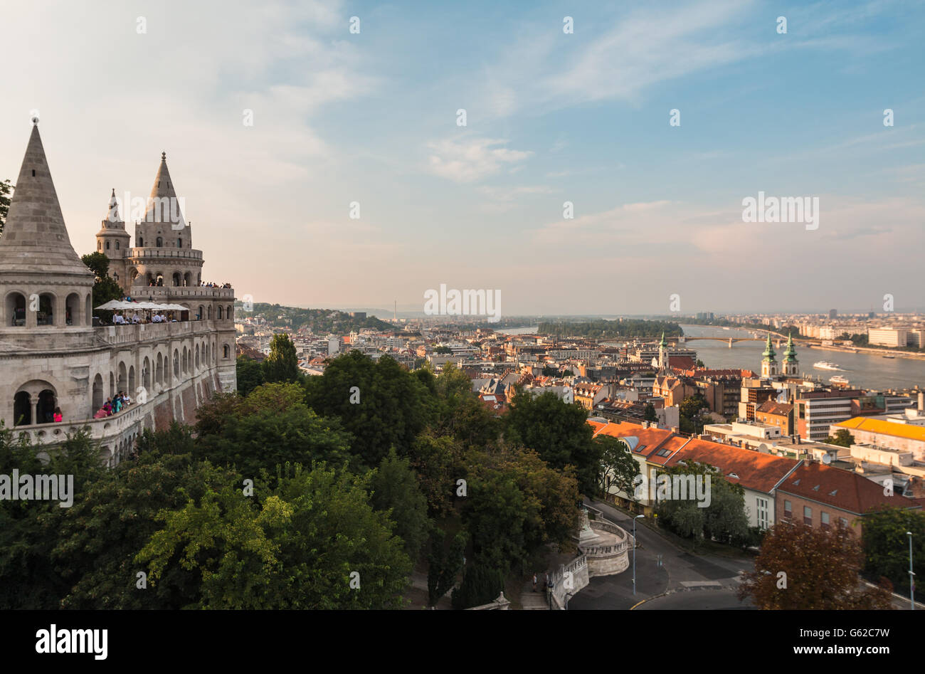 The Fishermans Bastion in Budapest Hungary - Stock Image