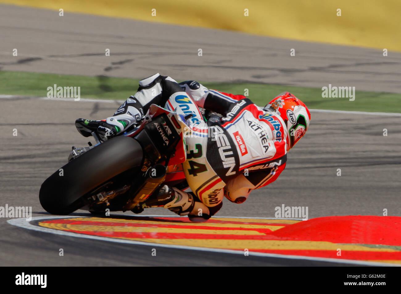 Moto Racing - SuperBike World Championship - Aragon Stock Photo