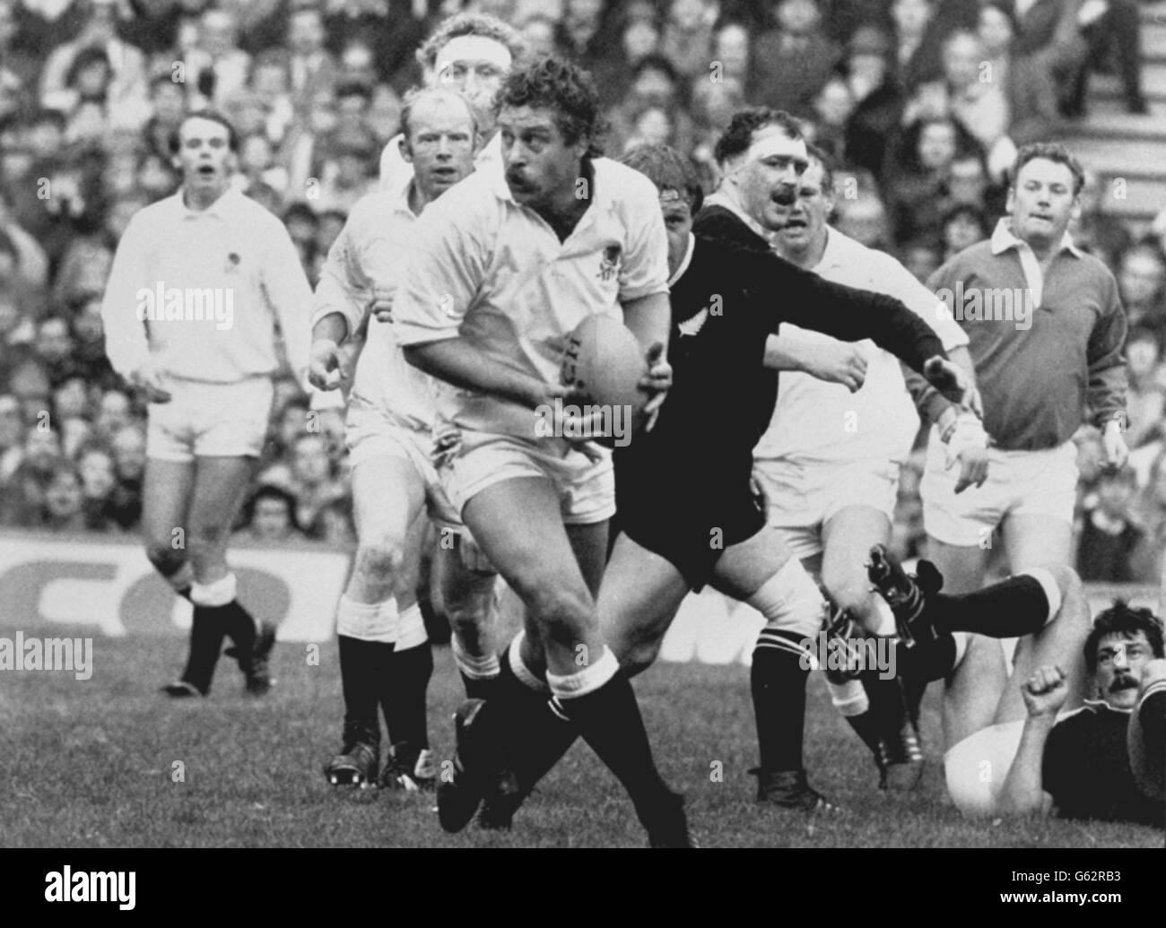 John Scott breaks for England at Twickenham. - Stock Image