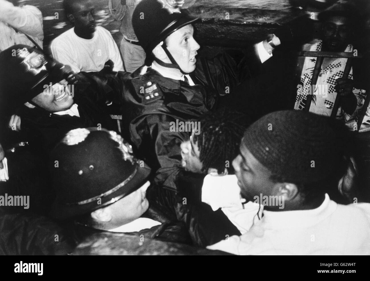 Notting Hill Carnival - Trouble - London - 1989 - Stock Image