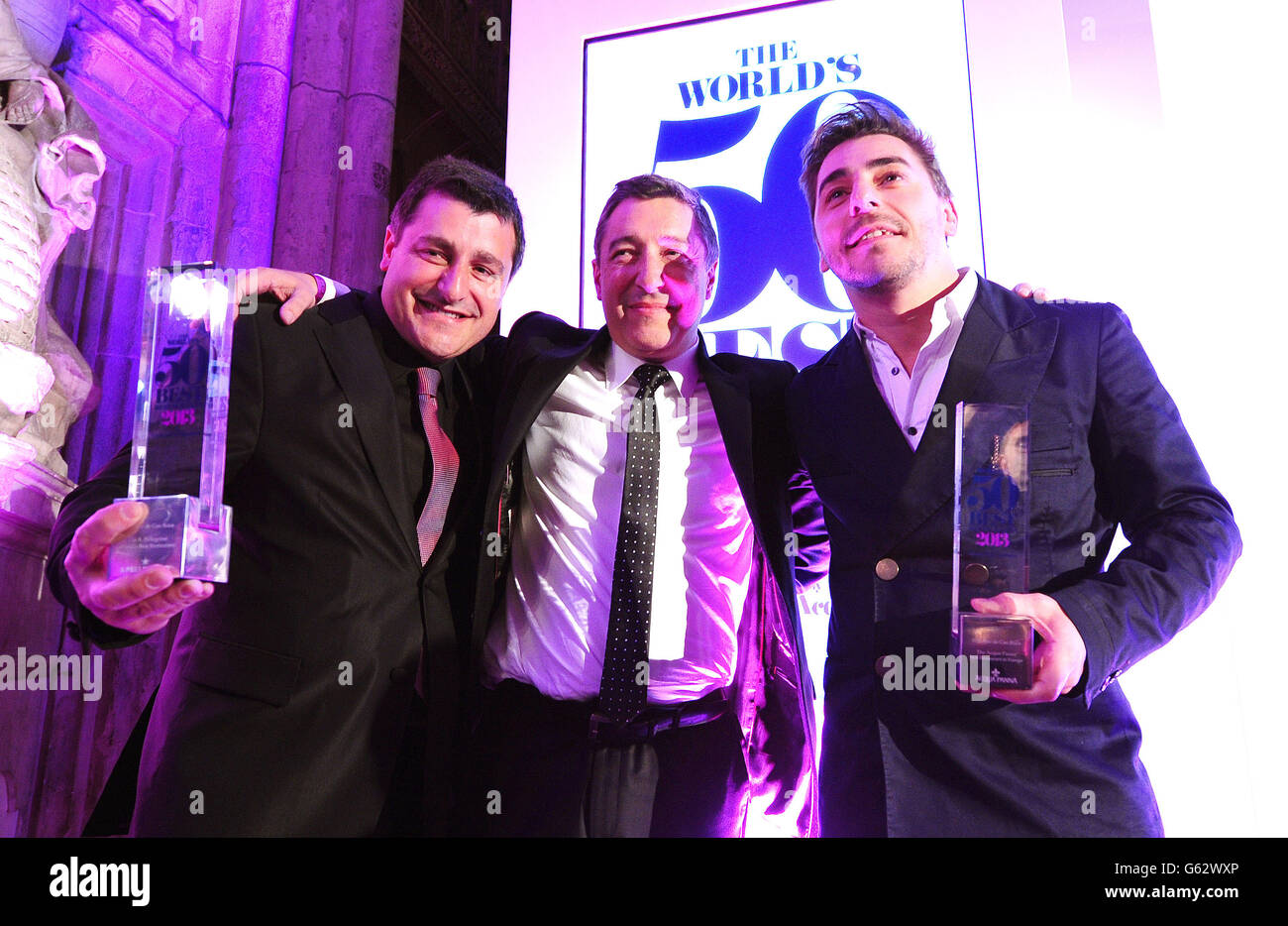The WorldÕs 50 Best Restaurants Awards 2013 Stock Photo