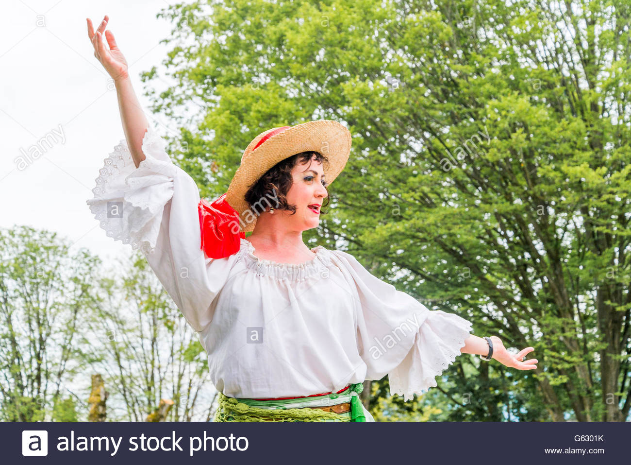 Costumed Character, Italian Day, Commercial Drive, Vancouver, British Columbia, Canada - Stock Image