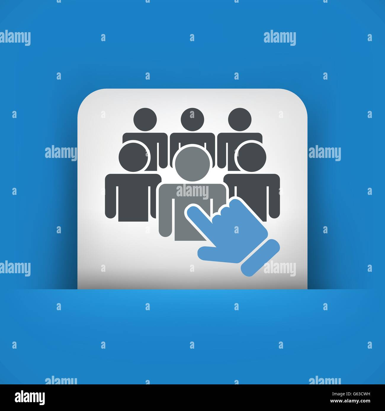 Staff selection icon Stock Vector