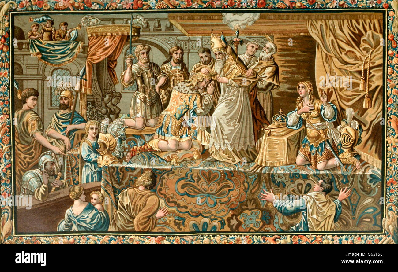 Sacre Du Roi Charles VII a Riems, Le 17 Juliet 1429  Rite of King Charles VII Riems July 17, 1429 - Stock Image