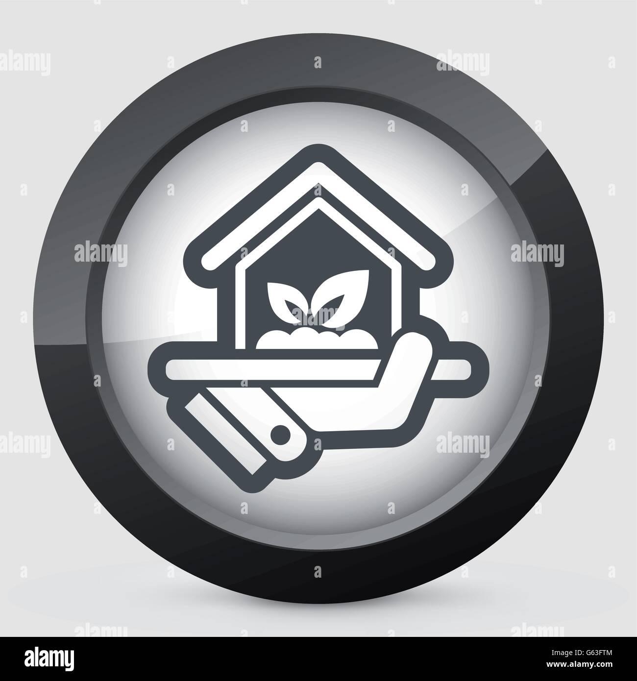 Indoors garden icon - Stock Vector