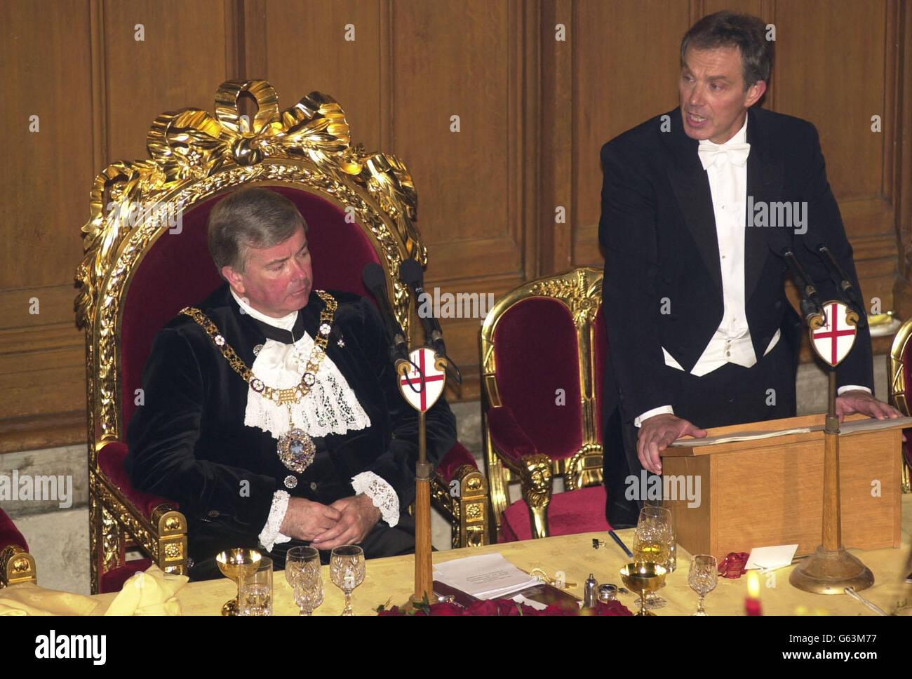 Tony Blair - Keynote Speech - Stock Image