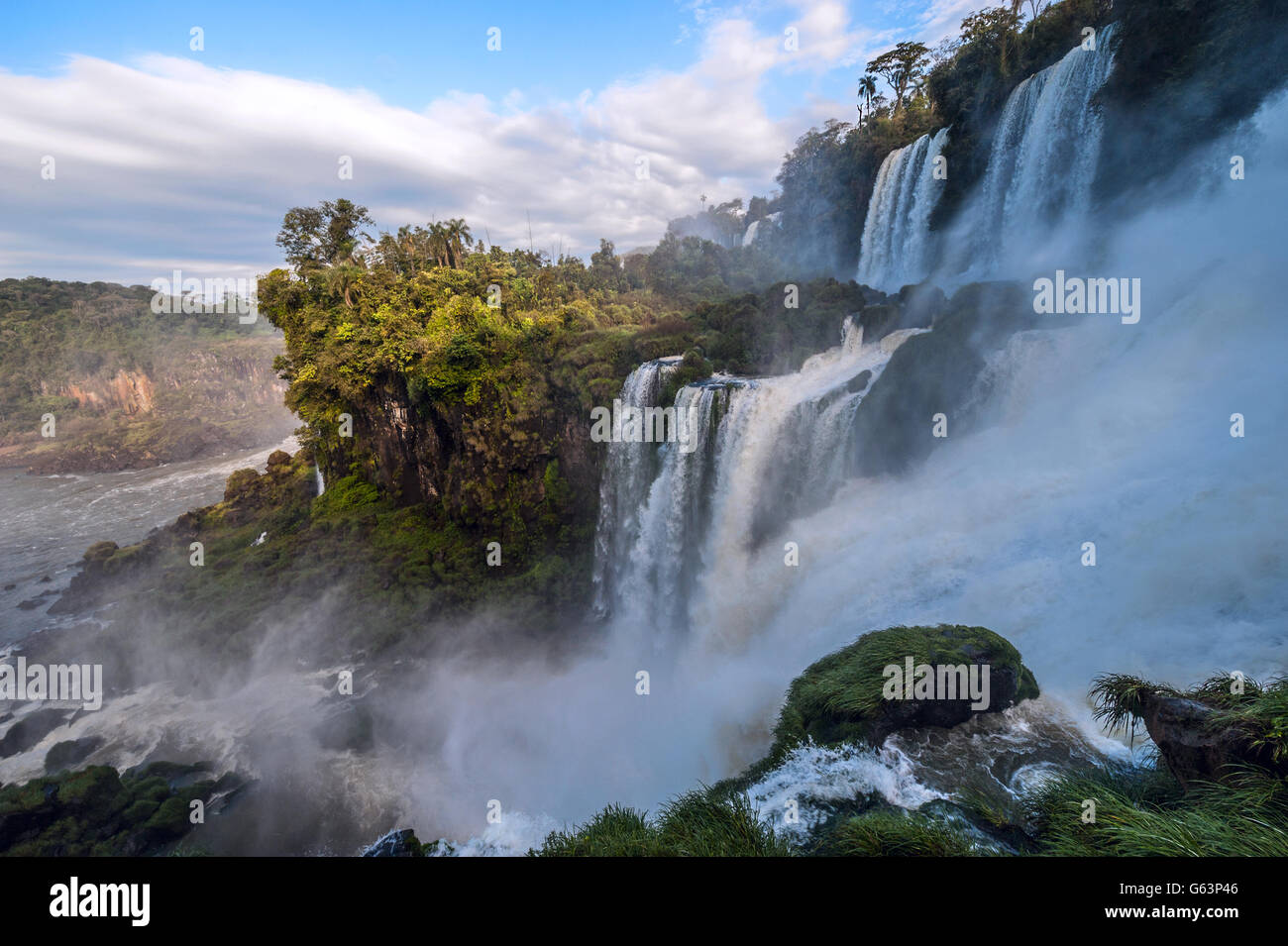 Iguacu Falls from the Argentina side - Stock Image