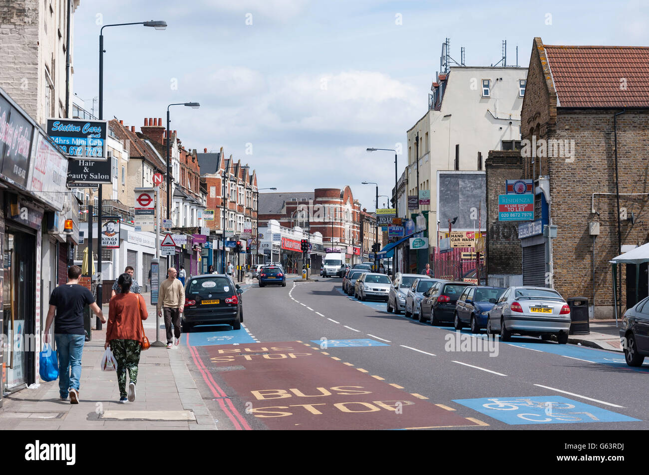 Upper Tooting Road, Tooting Bec, London Borough of Wandsworth, Greater London, England, United Kingdom - Stock Image